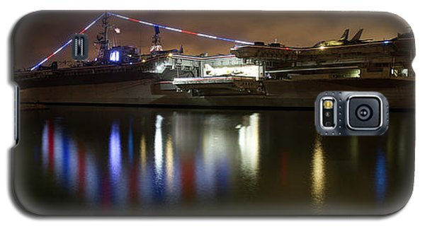 Galaxy S5 Case featuring the photograph Uss Midway At Night by Nathan Rupert