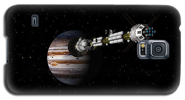 Galaxy S5 Case featuring the digital art Uss Savannah Approaching Jupiter by David Robinson