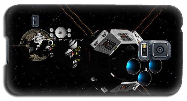 Galaxy S5 Case featuring the digital art Uss Savannah In Deep Space by David Robinson