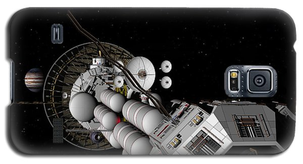 Galaxy S5 Case featuring the digital art Uss Savannah Nearing Jupiter by David Robinson