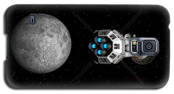 Galaxy S5 Case featuring the digital art Uss Savannah Passing Earth's Moon by David Robinson