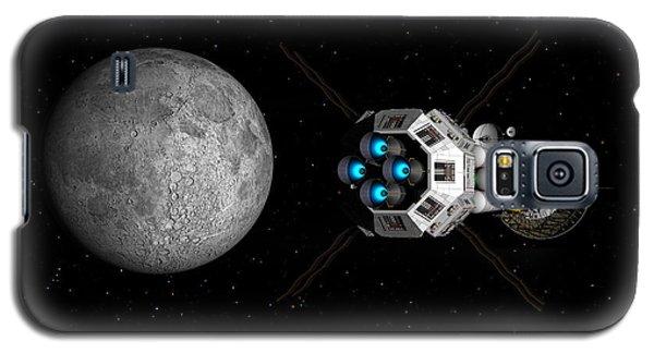 Uss Savannah Passing Earth's Moon Galaxy S5 Case