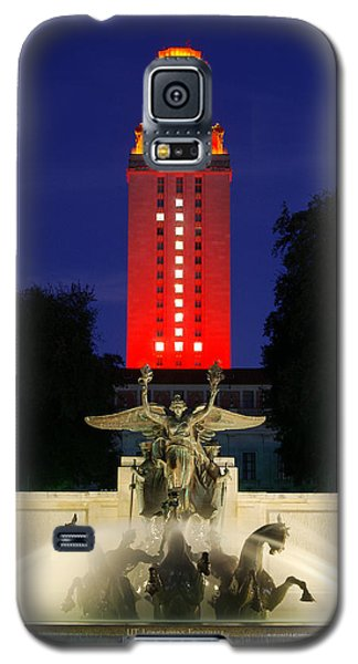 Ut Austin Tower Orange Galaxy S5 Case by Lisa  Spencer
