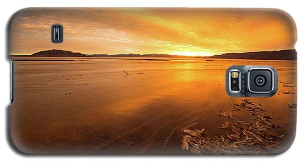 Utah Lake Sunset Galaxy S5 Case