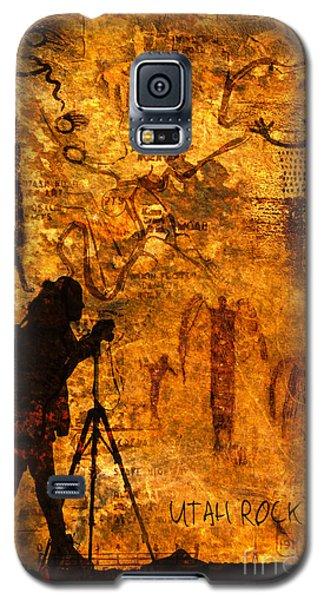 Utah Rock Art Montage Galaxy S5 Case by Marianne Jensen