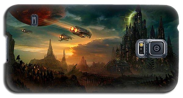 Space Ships Galaxy S5 Case - Utherworlds Sosheskaz Falls by Philip Straub