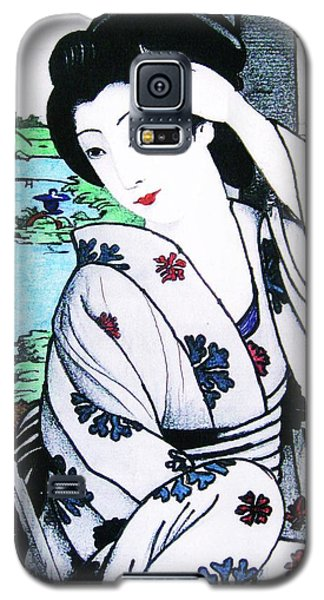 Galaxy S5 Case featuring the painting Utsukushii Josei by Roberto Prusso