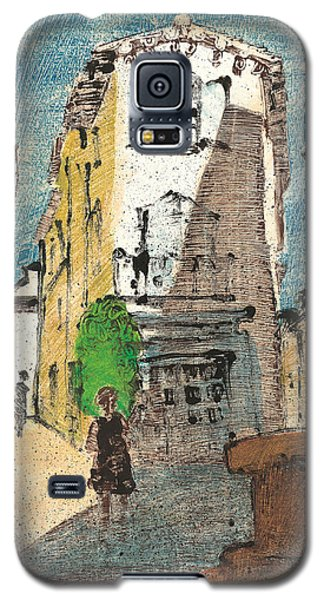 Galaxy S5 Case featuring the painting Uzes Provence by Martin Stankewitz