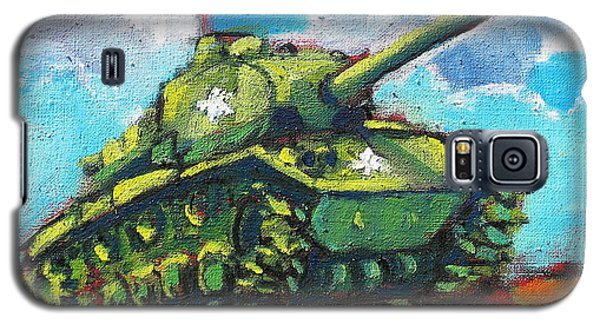 Galaxy S5 Case featuring the painting V. F. W. Tank by Les Leffingwell
