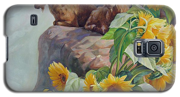 Galaxy S5 Case featuring the painting Vacation In The Rocky Mountains by Svitozar Nenyuk