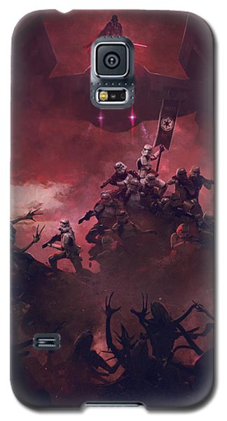 Star Wars Galaxy S5 Case - Vader Vs Aliens 2 by Exar Kun