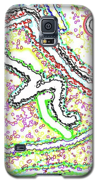 Galaxy S5 Case featuring the digital art Vaguely Aware by Yshua The Painter