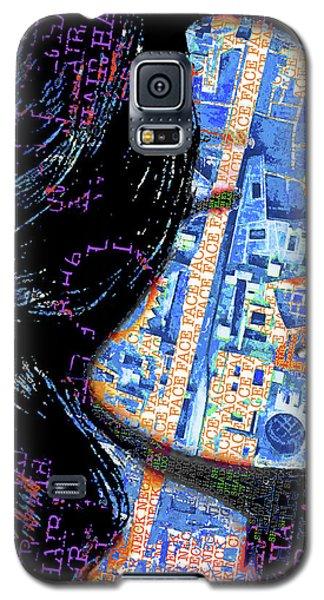 Galaxy S5 Case featuring the mixed media Vain by Tony Rubino