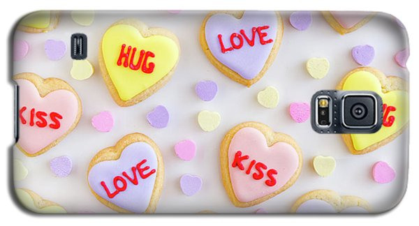 Galaxy S5 Case featuring the photograph Valentine Heart Cookies by Teri Virbickis