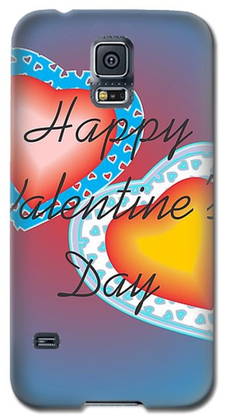 Galaxy S5 Case featuring the painting Valentine Lace by Sherril Porter