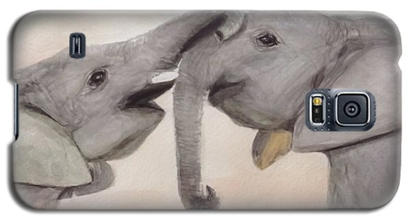 Valentine's Day Elephant Galaxy S5 Case by Annie Poitras