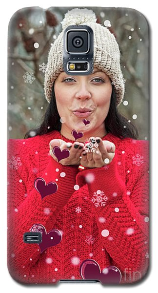 Galaxy S5 Case featuring the photograph Valentines Kisses... by Nina Stavlund