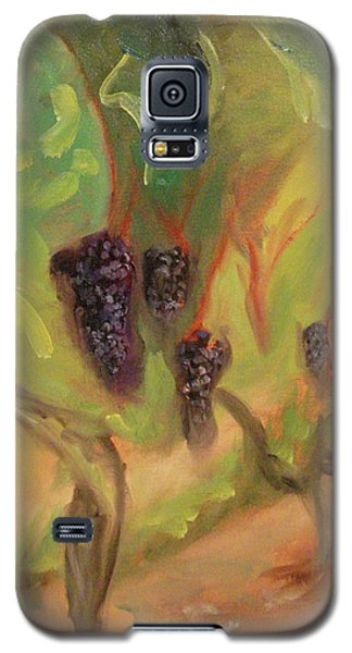 Galaxy S5 Case featuring the painting Valhalla Vineyard by Donna Tuten