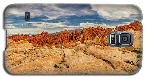 Galaxy S5 Case featuring the photograph Valley Of Fire Panorama by Rikk Flohr