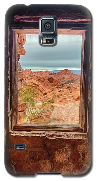 Valley Of Fire Window View Galaxy S5 Case