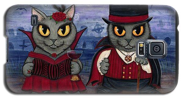 Vampire Cat Couple Galaxy S5 Case