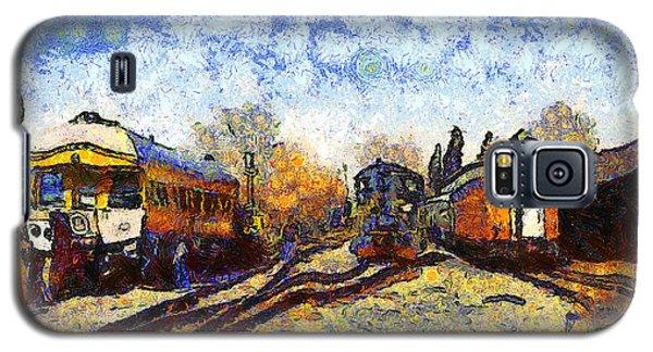 Van Gogh.s Train Station 7d11513 Galaxy S5 Case