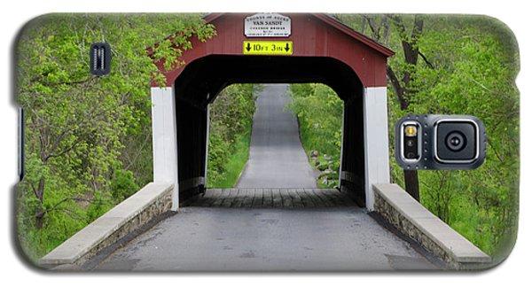Van Sandt Covered Bridge - Bucks County Pa Galaxy S5 Case by Bill Cannon
