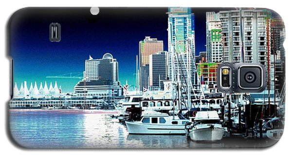 Vancouver Harbor Moonrise  Galaxy S5 Case