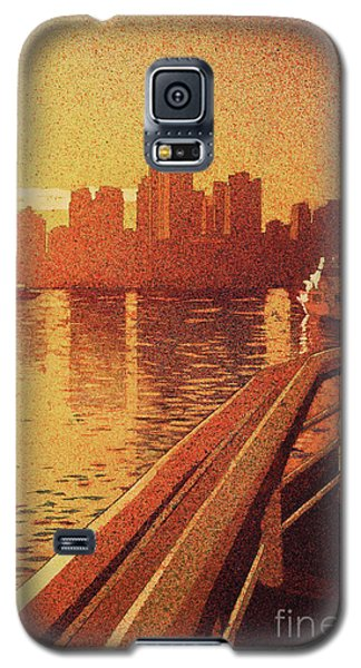 Galaxy S5 Case featuring the painting Vancouver Morning- Bc by Ryan Fox