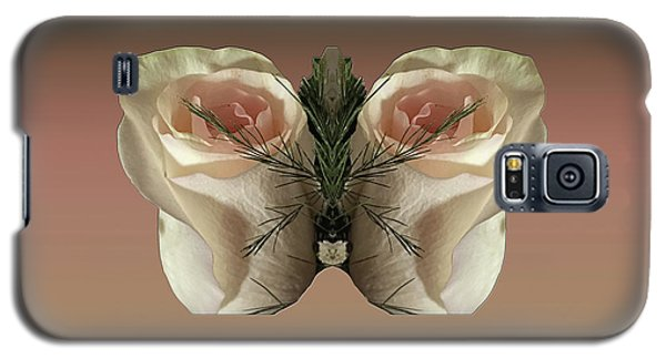 Galaxy S5 Case featuring the photograph Vanilla Butterfly Rose by Rockin Docks Deluxephotos