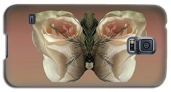 Vanilla Butterfly Rose Galaxy S5 Case