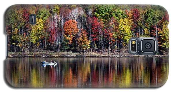 Vanishing Autumn Reflection Landscape Galaxy S5 Case by Christina Rollo