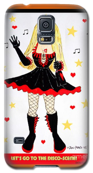 Galaxy S5 Case featuring the painting Vannieh-the Disco-queen Of The Nineties by Don Pedro De Gracia