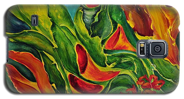 Galaxy S5 Case featuring the painting Variation by Teresa Wegrzyn