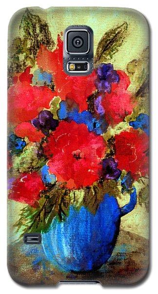 Vase Of Delight-still Life Painting By V.kelly Galaxy S5 Case