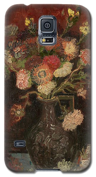 Vase With Chinese Asters And Gladioli Galaxy S5 Case