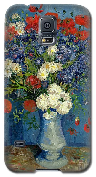 Vase With Cornflowers And Poppies Galaxy S5 Case by Vincent Van Gogh