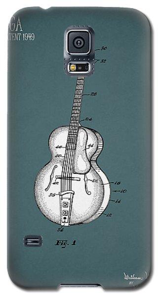 Guitar Galaxy S5 Case - Vega Guitar Patent 1949 by Mark Rogan
