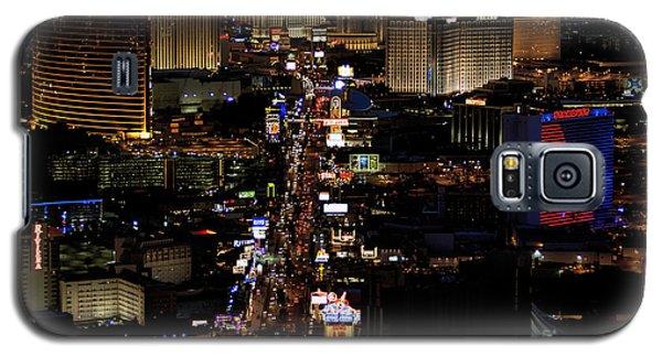 Vegas Night Lights Galaxy S5 Case by Linda Phelps