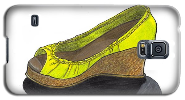 Galaxy S5 Case featuring the drawing Vegas Shoes by Jean Haynes