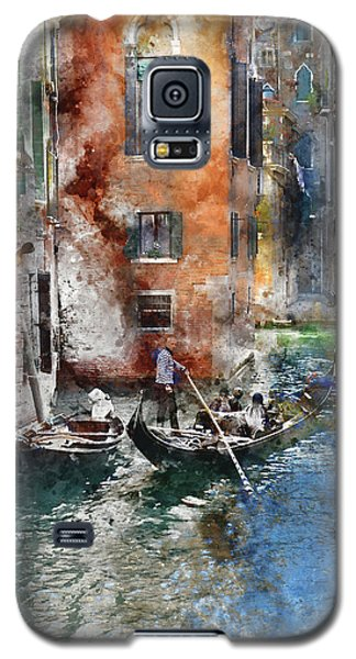 Venetian Gondolier In Venice Italy Galaxy S5 Case