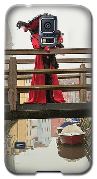 Venetian Lady On Bridge In Burano Galaxy S5 Case