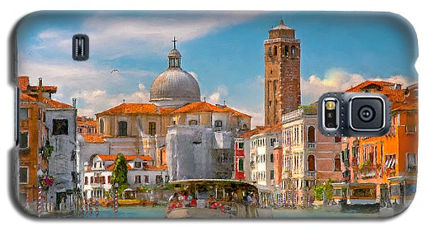 Galaxy S5 Case featuring the photograph Venezia. Fermata San Marcuola by Juan Carlos Ferro Duque