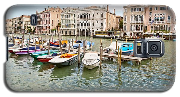 Galaxy S5 Case featuring the photograph Venice Boats by Sharon Jones