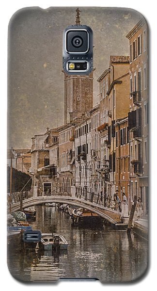 Galaxy S5 Case featuring the photograph Venice, Italy - Carmini Campanile by Mark Forte