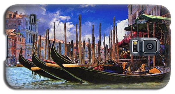 Venice Gondolas Galaxy S5 Case by Ron Grafe