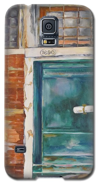 Venice Green Door Galaxy S5 Case by Lisa Boyd