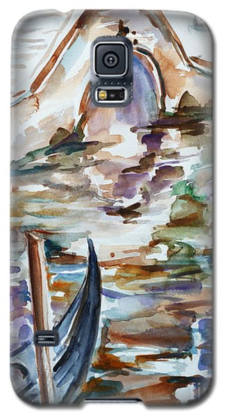 Galaxy S5 Case featuring the painting Venice Impression I by Xueling Zou