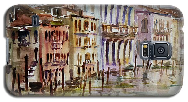 Galaxy S5 Case featuring the painting Venice Impression II by Xueling Zou