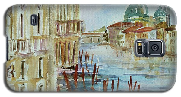 Galaxy S5 Case featuring the painting Venice Impression IIi by Xueling Zou